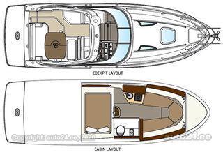 Sea Ray Sundancer 265 Mercruiser 4.5L MPI - 250hp 6,2L MPI - 300/350hp