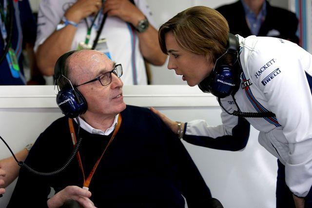 Frank ja Claire Williams. Foto: LAT / Williams F1