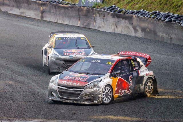 Rallikrossi MM-sarjas kihutamas Peugeot roolis. Foto: Peugeot