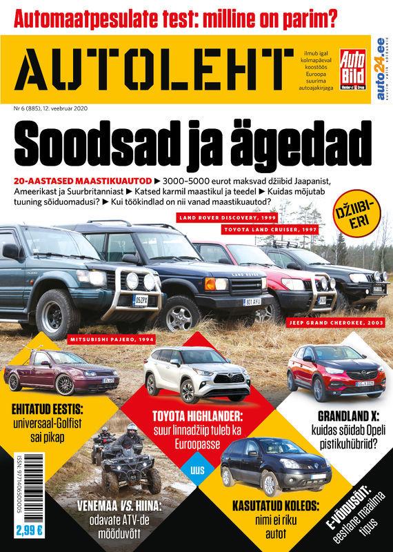 Autoleht, 12. veebruar 2020