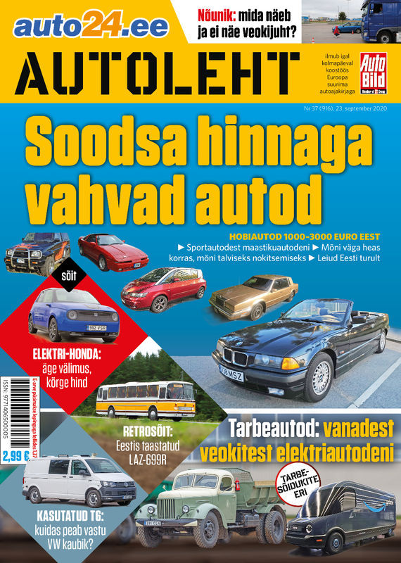 Autoleht, 23. september 2020
