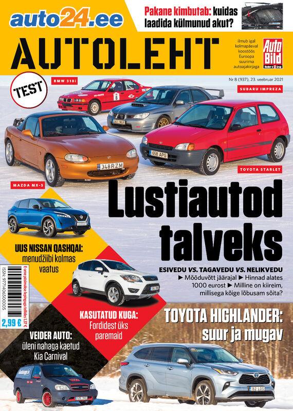 Autoleht, 23. veebruar 2020